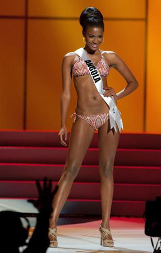 Vídeo e fotos da Miss Universo 2011 Leila Lopes    conheça a Miss Angola