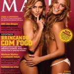 Fotos de Bia e Bianca, as gêmeas do nado sincronizado, na Maxim de junho
