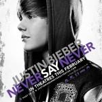 Pôster de Never Say Never, filme da vida de Justin Bieber