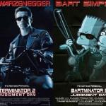Pôsteres de filmes famosos com personagens de Os Simpsons