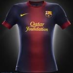 As fotos das novas camisas do Barcelona e do Real Madrid modelo 2012/2013