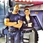 "Velozes e Furiosos 6: primeira foto do sets mostra Dwayne ""The Rock"" Johnson e Gina Carano"