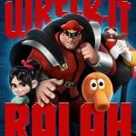 Pôsteres de Detona Ralph trazem Sonic, M. Bison, Zangief  e outros personagens famosos de games