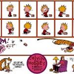 Assista a um desenho animado de Calvin e Haroldo